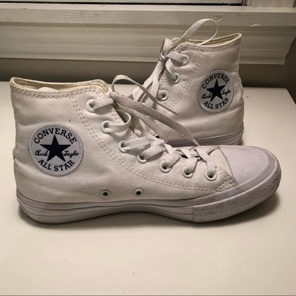 Converse Shoes   Chuck Taylor Ii Hi Top Whitewhitenavy   Poshmark 53c234af334b